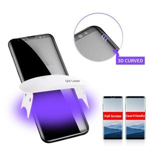 Image 5 - Colla UV Protezione Dello Schermo Per Huawei mate 40 30 Più P30 P40 Pro Temperato di Vetro UV Liquido per la Nota di Samsung 20 Ultra S20 Più S10