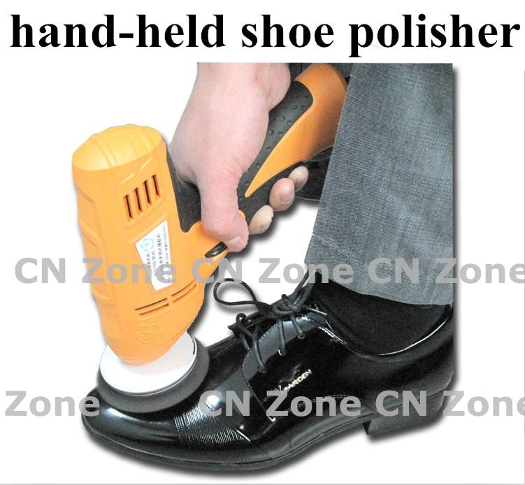 Commercio all'ingrosso scarpa famiglia lucidatore elettrico mini tenuto in mano portatile di cuoio lucidatura attrezzature dispositivo automatico macchina pulita