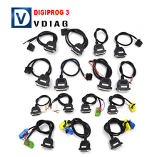 Hot selling Full Set Cables for Digiprog III Digiprog 3 Odometer Programmer Full Set Cables for Digiprog 3 DHL Free Shipping