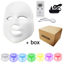 Led Therapy Mask Photon Therapy Light 7 colors LED Facial Mask  Skin Care Rejuvenation Wrinkle Removal Acne Korean Beauty Spa цены
