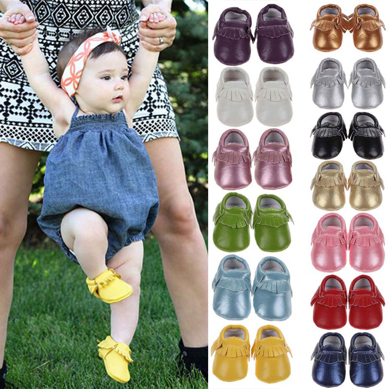 Spring Baby Shoes Newborn PU Leather Baby Moccasins Shoes For Girls Kids Newborn Boys Sneakers First Walkers 0-18 Months