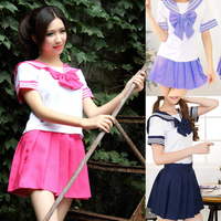 Japanese School Uniform 2016 Newest Sexy Sailor Costumes 7 COLORS Anime Girls Dress Cosplay Costume Free