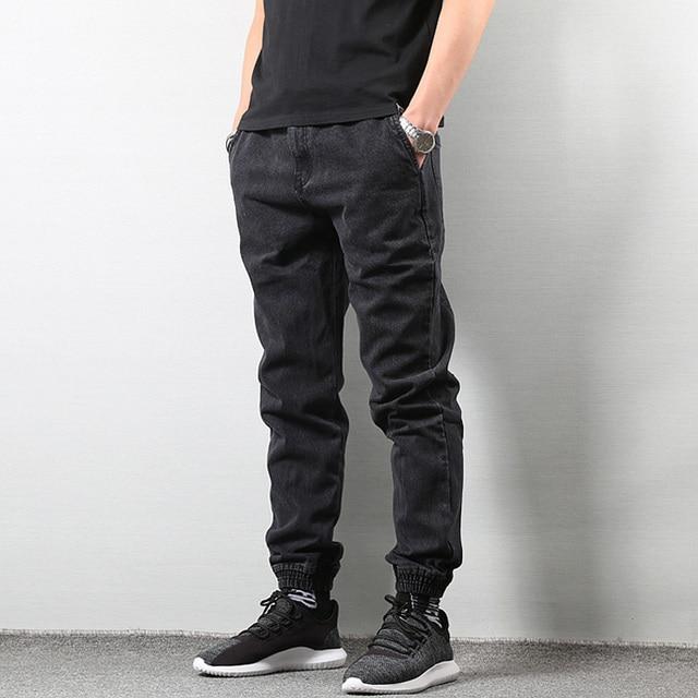 ef1a3c936b5e0 Japanese Style Joggers Jeans Pants Men Black Blue Streetwear hombre Pants  Hip Hop Denim Jeans Men