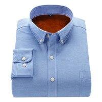 Men Shirt 2017 New Winter Men S Casual Solid Fleece Gray Warm Shirt Male Solid Warm