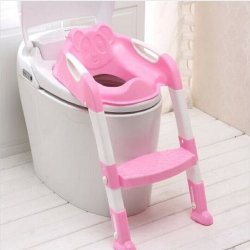 ФОТО Baby Potty Seat With Ladder Children Toilet Seat Cover Kids Toilet Folding infant potty chair Training Portable pinico troninho