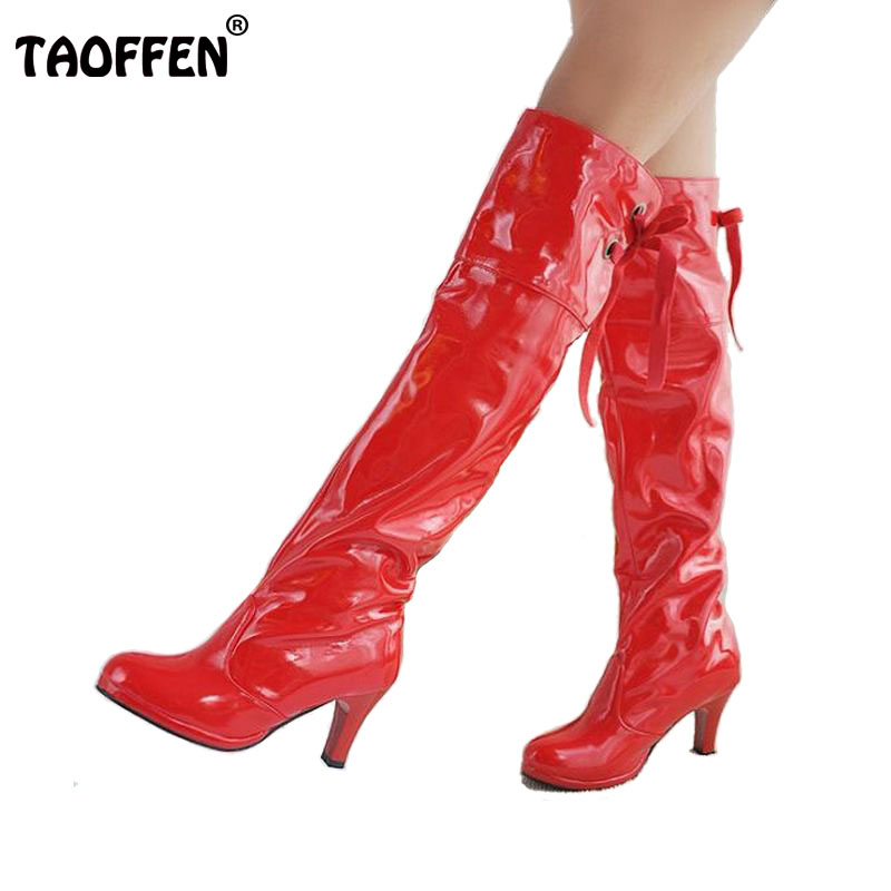 Free shipping knee boots women fashion long boot winter footwear high heel shoes sexy snow warm P8667 EUR size 31-47