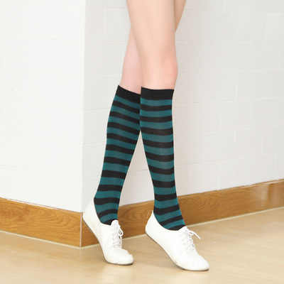113aec759a9 ... Boots Thigh Knee High Socks New Colorful Sexy Striped Compression  Women s Long Socks Ladies Girls Fashion