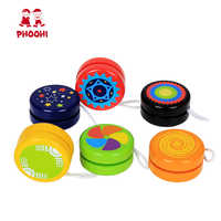 Yoyo de madeira brinquedo profissional crianças brinquedos clássicos legal esporte mágico ao ar livre clássico jogar yo yo bola yo-yo brinquedo para crianças phoohi