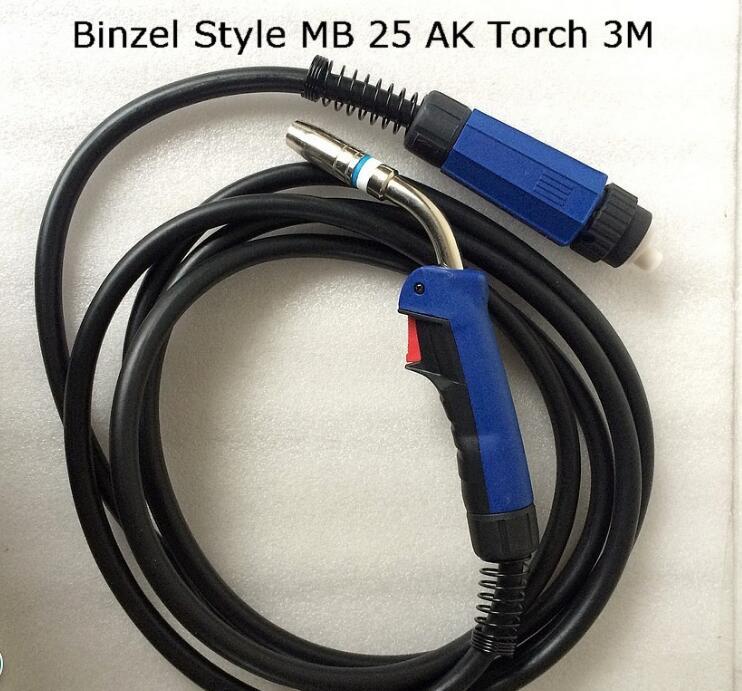 MB25 25AK Welding Torch Gun 3M Air-cooled Euro Quick Connector for MIG MAG Welding Machine Welder 1pcs