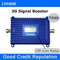 Lintratek 3 Г Усилитель Сигнала ЖК-Дисплей Мобильного Телефона UMTS Репитер W-CDMA 2100 мГц 70дб с Высоким Коэффициентом Усиления 2100 мГц Сотовый сигнал Ускорители