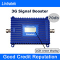 Lintratek 3G Signal Amplifier LCD Display Mobile Phone Repeater W-CDMA 2100mhz 70db High Gain UMTS 2100 mhz Cell Signal Boosters