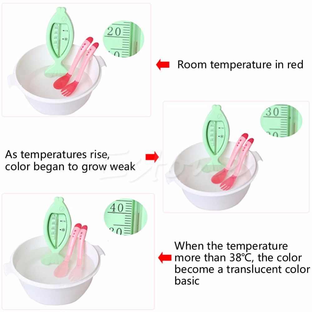 1 pcs ความร้อน Sensing ความร้อนให้อาหารช้อนเด็กทารกหย่านมซิลิโคนบนโต๊ะอาหาร