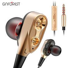 Stereo Wired Earphone Headphone 2 Dynamic Super Bass For Xiaomi Samsung Huawei Phone Mp3 Earphone 3.5mm With Mic Jack(China)
