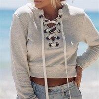 Autumn Deep V Neck Bandage Slim Shirts Women Blouse Long Sleeve Sexy Night Club Fashion Femme