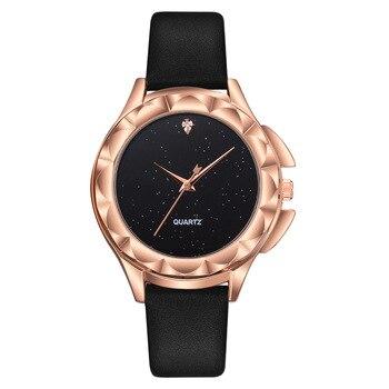 цена на Luxury Woman Watch Lady Rose Gold Starry Sky Diamond Wrist Watches Women Fashion Casual Quartz Ladies Watch Relogio Feminino