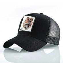 Wholesale Baseball hat men/women sun hip hop animal cap Tiger embroidery street High Anime Snapback Cap