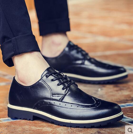 Warm Autumn And Winter Men S Business Casual Shoes British Style Small Leather Fashion Trends Increased