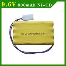 9.6V 800mAh Ni-CD Battery AA Battery