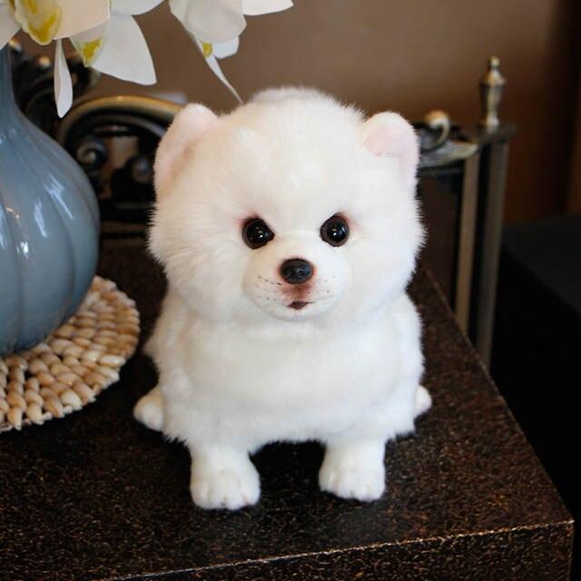 Online Shop Dorimytrader Quality Beauty White Dog Pomeranian Plush