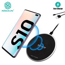 10W Qi Wireless Charger PU Leather, NILLKIN Wireless Charger Pad for Samsung Galaxy S10/S10 Plus For iPhone X/XR For Xiaomi Mi 9 qi wireless charger receiver pu leather case k8 charging pad kit for samsung galaxy s4 white