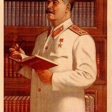 Vintage Stalin de la Unión Soviética carteles antiguos simples creativos Kraft adornos de pared de papel pintura artística decorativa clásica pinturas