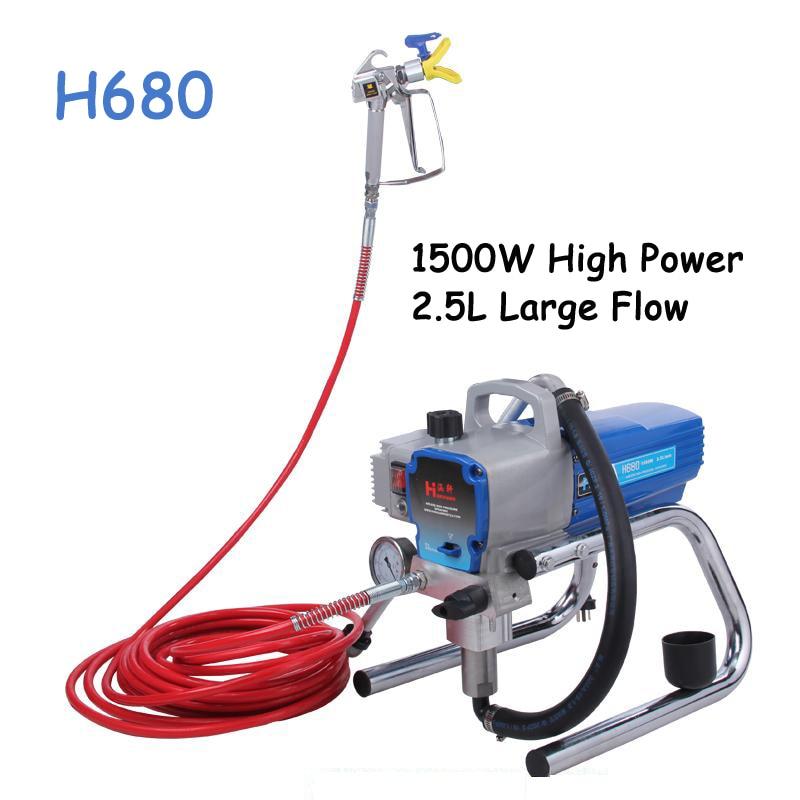 Magas nyomású, légmentes festékpermetezőgép Elektromos, lég nélküli festékpermetezőgép Professzionális permetezőgép H680 / H780 220V
