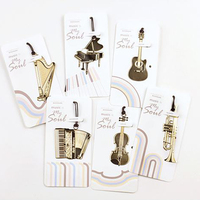Free Shipping Musical Instruments Metal Design Bookmark Gifts For Guests Wedding Favor Birthday Baby Shower Decor