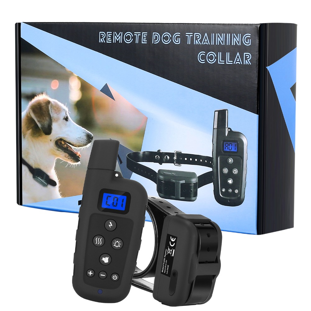 Profesionální 2 psi výcvik obojek s dálkovým 600 metrů rozsah elektrický šok obojek vibrovat pro Smart Sport / lovecký pes