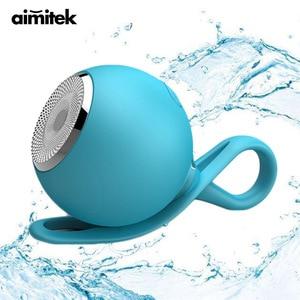 Image 1 - Aimitek עמיד למים Bluetooth רמקול מיני מקלחת רמקולי סיליקון חיצוני ספורט עמיד הלם סאב תמיכה TF כרטיס עבור טלפונים