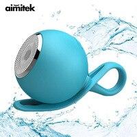 Aimitek su geçirmez Bluetooth hoparlör Mini duş silikon hoparlörler açık spor darbeye Subwoofer desteği TF kart telefonları için