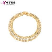 Xuping Pulsera de Moda de Nueva Llegada de Las Mujeres Elegantes Pulseras de La Amistad de Oro Color de Precio Bajo de Calidad Superior Joyería S46-74001