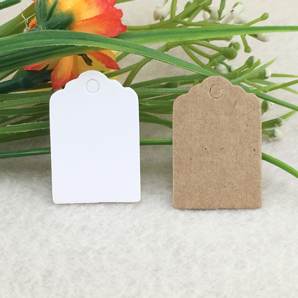 100pcs Kraft Brown Hang Tags DIY Handmade Tags Gift Packaging Labels Blank Price Tags Small Paper Card For Jewelry/Box/Cosmetics