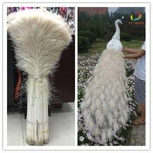 Atacado 50 pcs branco bonito da pena do pavão olho 73-80 cm/29-32 polegada decorativo celebração palco desempenho diy
