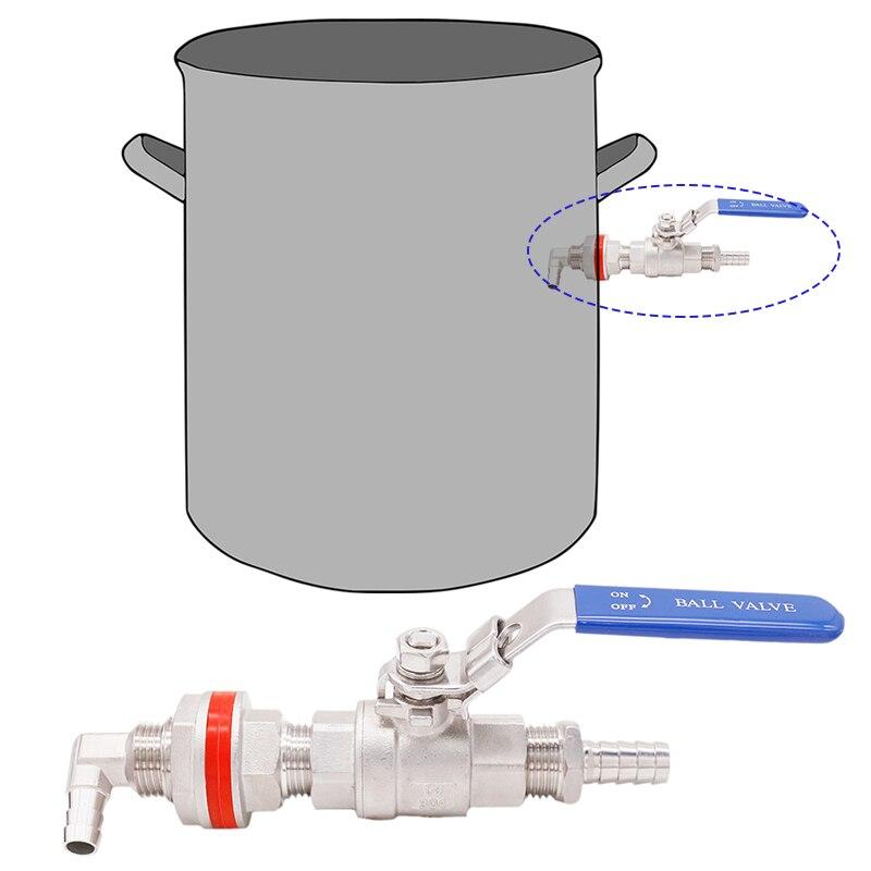 Homebrew Weldless Whirlpool Arm Brew Boil Kettle Accessories Homebrew Hardware