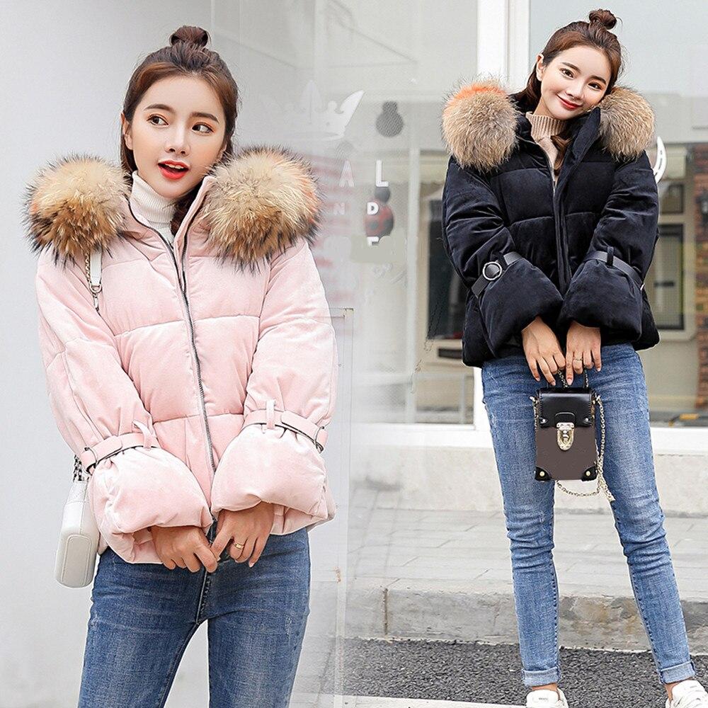 Fourrure Et Manteaux Chaud pink 2018 Solide Mince En Vestes Femmes Col Black Parkas D'hiver Court Pour Fausse Feitong Épais Manteau Veste wkTOZiPXu