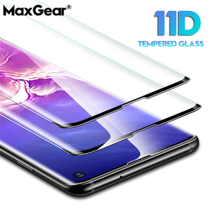 Image 1 - 11D Full Curved Screen Tempered Glass For Samsung Galaxy S8 S9 S10 Plus S10E S7 ED Protector For Note 8 9 10 Pro Protective Film