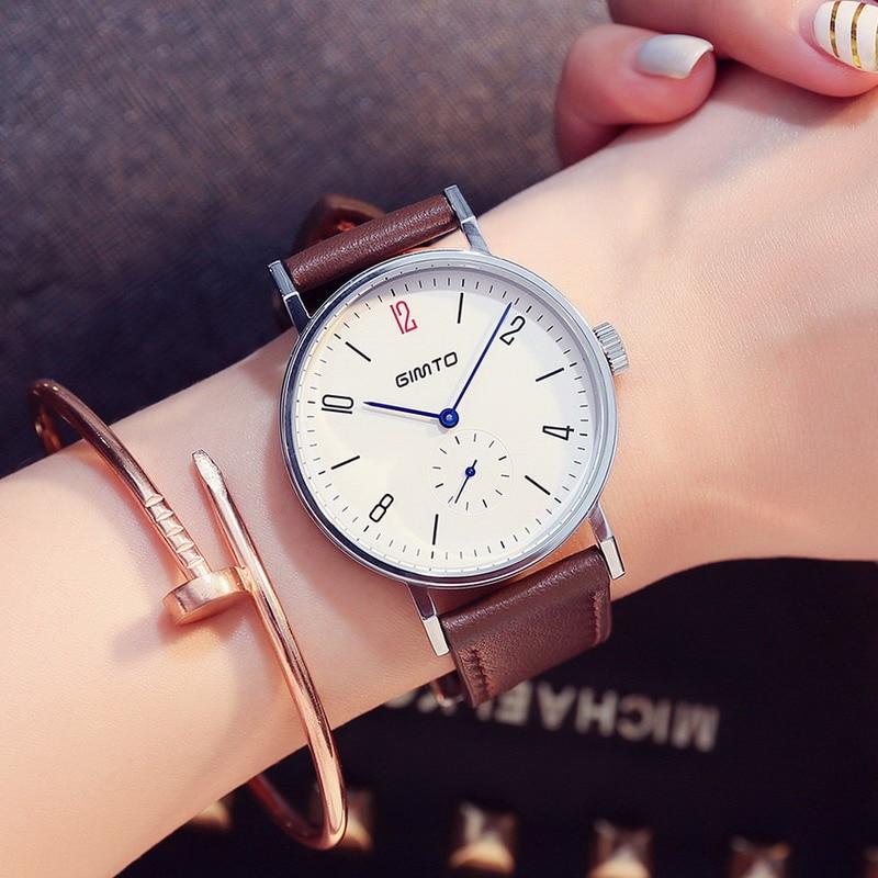 2017 Fashion Ladies Watch Big Dial Quartz Analog Women Watches Casual Leather Strap Student Girl Dress Watch Montre Femme Reloj