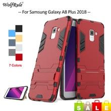 For Cover Samsung Galaxy A8 Plus 2018 Case TPU & PC Bumper Protective Phone Case For Samsung A8 Plus 2018 Cover A8+ A730 6'' protective tpu pc bumper frame for samsung galaxy s5 mini green