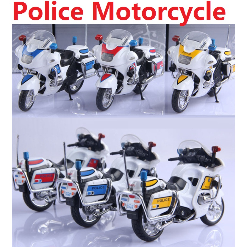 New Listing Alloy self loading police cars / 1:18 Police motorcycle ...