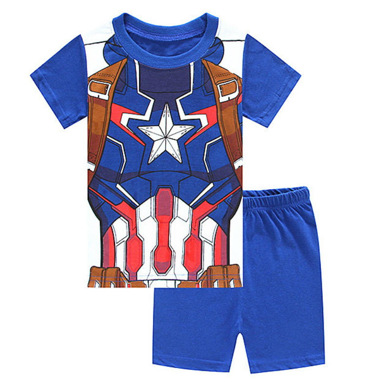Marvel Avengers 3 Children Clothes 2018 Summer Super Hero Iron Man Captain America Spider Man Clothing Set Girl Boys T T Shirts dc marvel comics pencil wallets avengers hero captain america spider man iron man rectangle long pencil bag zipper pouch purse