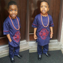 Ropa africana para niños, camisas de trajes Dashiki para chico y niña, conjunto de dos piezas, traje para chico y niña, conjuntos de pantalón superior para niña