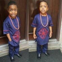 アフリカ子供服アフリカ子供少年少女 dashiki シャツスーツ 2 2 個セット子供服夏女の子トップパンツセット