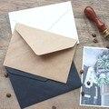 50pcs/set Vintage  Brown White black Kraft blank mini paper window envelopes wedding invitation envelope /gift envelope/3 color