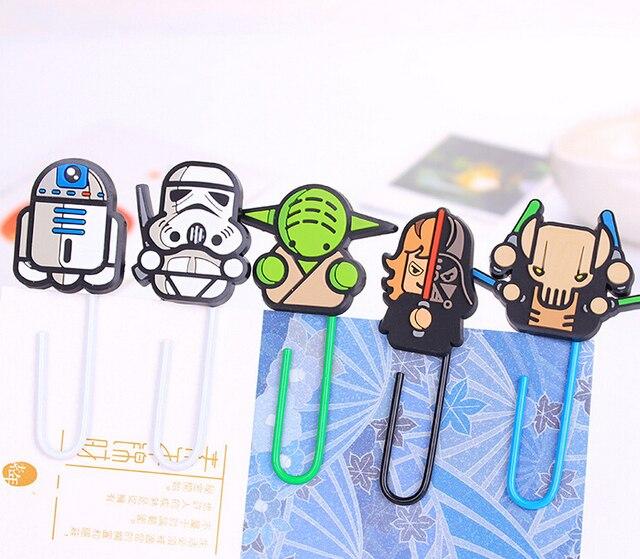 Novedad Star Wars Paper Clip Bookmark Regalo Promocional Papelería Escuela de Papelería Papelaria Escolar