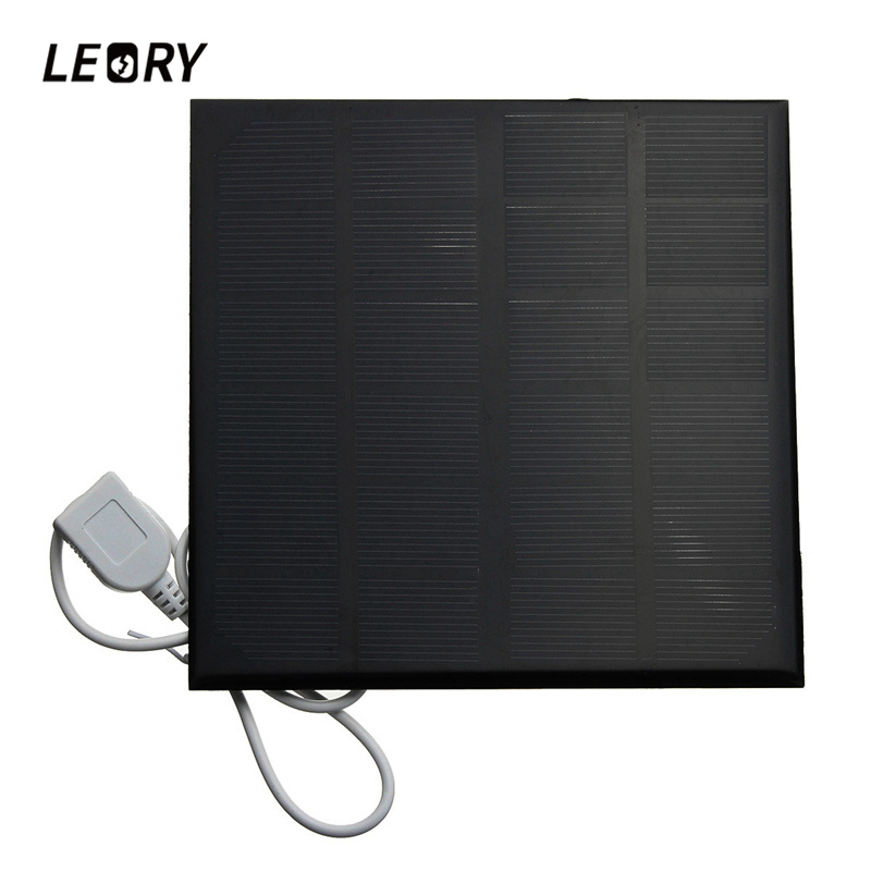 LEORY 3W/4.5W/6W 6V Mini Solar Panel With USB Interface For Mobile Phones Power Bank MP3