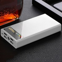 External Battery Portable Power Bank With LED Flash Light LCD Digital Display 4 USB Interfaces For