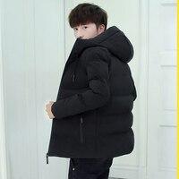Vogue Green Winter Parka Men Hooded Harajuku Jacket Coat Military Warm Jackets Mens Clothes Windbreaker Japen Men Clothing