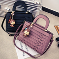 2016 women handbag classic stripe tote bag fashion casual PU shoulder bag women shopping handbag Woven bag