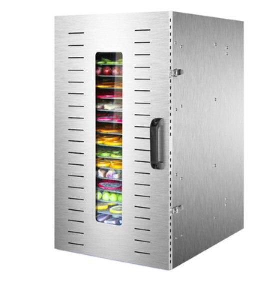 Food Dehydrator Fruit Vegetabl Drying Machine Snacks Herbs Gain Meat Food Dryer 16-Layer Stainless Steel Dry Fruit Machine