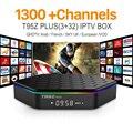 Europa Canales de IPTV Android 6.0 TV Box iptv Árabe Francés S912 T95ZPLUS 3G 32G Soporte Sport Canal Plus Francés Iptv Set Top caja